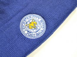 47 Brand Leicester City Cuff Knitted Turn Up Hat Royal Blue