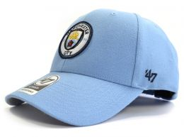 Man City 47 Brand Baseball Strap Back Cap Sky Blue