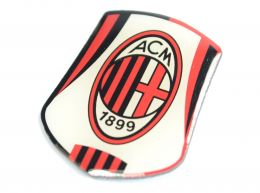 AC Milan Crest Pin Badge Red Black White