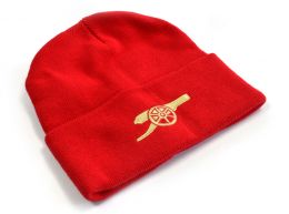 Arsenal Core Cannon Knitted Turn Up Hat Red
