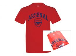 Arsenal Crest T Shirt Adults Retail Packaging
