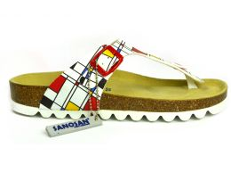 Sanosan Art Geneve Retro Womens Designer Thong Sandals