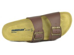 Sanosan Aston Leather Dark Brown Mens