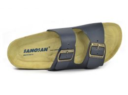 Sanosan Aston Leather Navy Mens