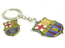 Barcelona Crest Keyring and Badge Set