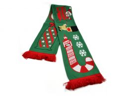 Christmas Scarf Red Bus