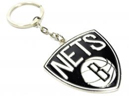Brooklyn Nets NBA Crest Keyring