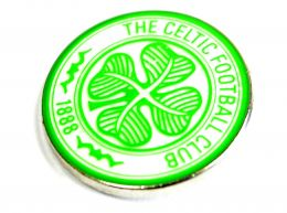 Celtic Crest Pin Badge Green
