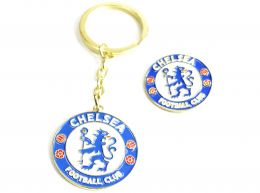Chelsea Crest Keyring and Badge Set