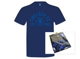 Chelsea Established T Shirt Navy Adults Retail Packaging