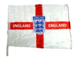 England Distressed Crest Car Flag 48 x 30 CM