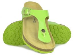 Sanosan Geneve Lacquered Green Womens Designer Thong Sandals