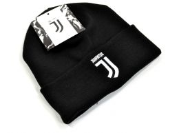 Juventus Knitted Turn Up Hat Black