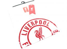 Liverpool Crest T Shirt White Adults Retail Packaging