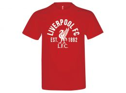 Liverpool Established T Shirt Red Adults