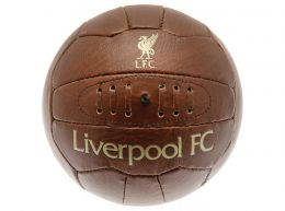 Liverpool Retro Faux Leather Ball Size 5