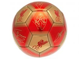 Liverpool Signature Ball Size 5 Red Gold 7068