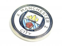 Man City Crest Pin Badge New Crest