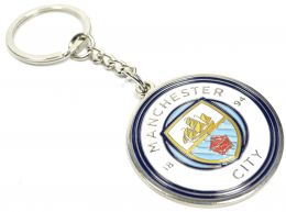 Man City Large Crest Keyring