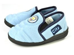 Man City Goal Heel Kids Slippers