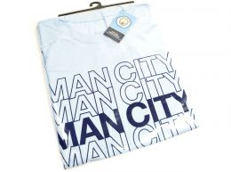 Man City Logo T Shirt Sky Blue Adults Retail Packaging