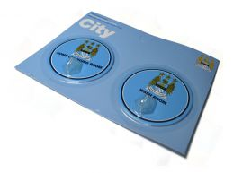 Man City Robe Hook Sign 2 Pack Classic Crest