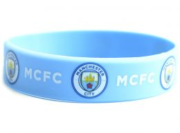 Man City Silicone Wristband New Crest