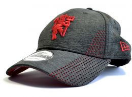 Man Utd New ERA Shadowtech Perf Charcoal 9Forty Strapback Cap