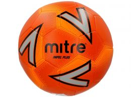 Mitre Impel Plus Football Orange Silver Black