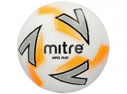 Mitre Impel Plus Football White Silver Orange