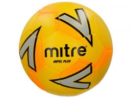 Mitre Impel Plus Football Yellow Silver Orange