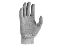 Nike Youths Swoosh Knit Gloves Grey