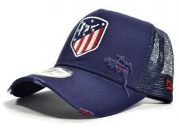 Atletico Madrid Distressed Navy A Frame Trucker