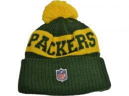 New Era Green Bay Packers Football Team On Field NFL Knitted Bobble Hat