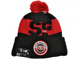 New Era San Francisco 49ers On Field NFL Knitted Bobble Hat