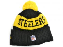 New Era Pittsburgh Steelers On Field NFL Knitted Bobble Hat