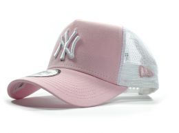 New Era New York Yankees Essential MLB Trucker Snap back Baseball Cap Pink