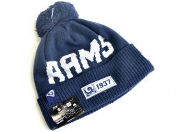 New Era On Field 19 Los Angeles Rams NFL Knitted Bobble Hat