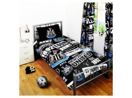 Newcastle United Patch Single Duvet and Pillow Case