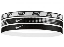 Nike Printed Headband 3 Pack Black