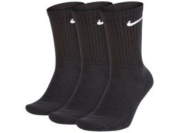 Nike Three Pack Everyday Cushion Socks Black