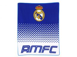 Real Madrid Fade Design Fleece Blanket New Crest