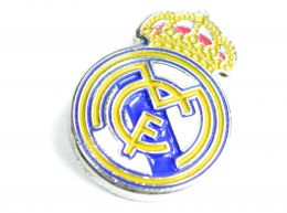 Real Madrid Crest Pin Badge White