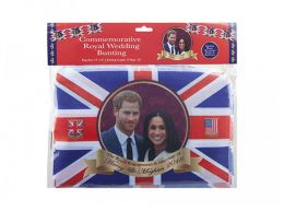 Royal Couple 20ft Bunting With 10pcs 12 X 8 Inch Flags