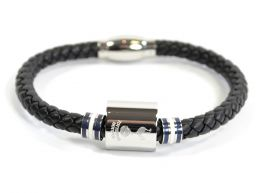 Spurs Leather Colour Ring Stainless Steel Boxed Bracelet