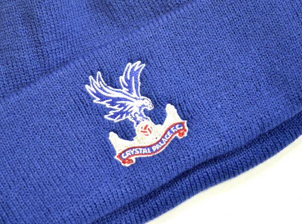 47 Brand Crystal Palace Football Club Official Knitted Turn Up Hat Royal Blue
